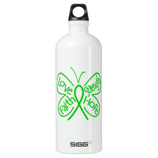Spinal Cord Injury Butterfly Inspiring Words Aluminum Water Bottle