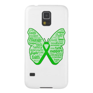 Spinal Cord Injury Butterfly Ribbon Galaxy S5 Covers