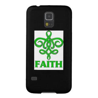 Spinal Cord Injury Faith Fleur de Lis Ribbon Galaxy S5 Cases