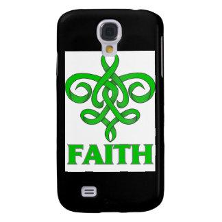 Spinal Cord Injury Faith Fleur de Lis Ribbon Samsung Galaxy S4 Covers
