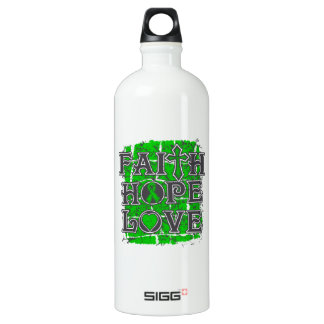Spinal Cord Injury Faith Hope Love Water Bottle