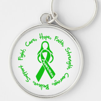 Spinal Cord Injury Fight Cure Hope Logo Keychain