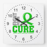 Spinal Cord Injury Fight For A Cure Square Wall Clock