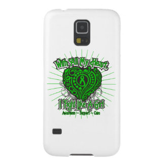 Spinal Cord Injury Heart I Fight Like A Girl Galaxy S5 Case