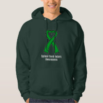 Spinal Cord Injury Heart Ribbon of Hope Hoodie