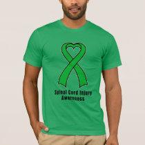 Spinal Cord Injury Heart Ribbon of Hope T-Shirt