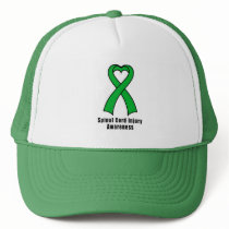Spinal Cord Injury Heart Ribbon of Hope Trucker Hat
