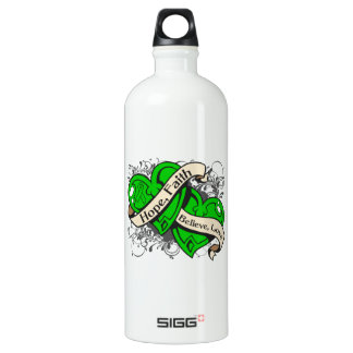 Spinal Cord Injury Hope Faith Dual Hearts Aluminum Water Bottle