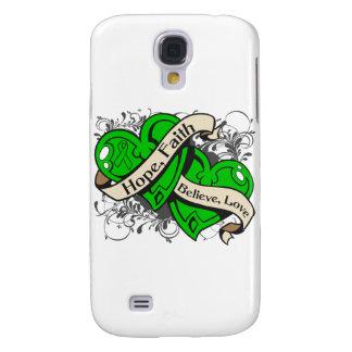 Spinal Cord Injury Hope Faith Dual Hearts Samsung Galaxy S4 Cover