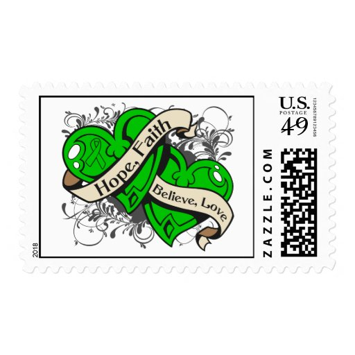 Spinal Cord Injury Hope Faith Dual Hearts Postage