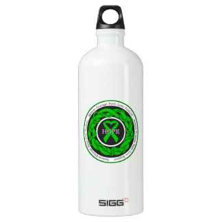 Spinal Cord Injury Hope Intertwined Ribbon Aluminum Water Bottle