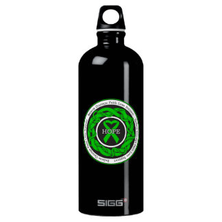 Spinal Cord Injury Hope Intertwined Ribbon Water Bottle