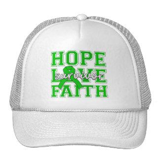 Spinal Cord Injury Hope Love Faith Survivor Mesh Hats