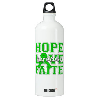 Spinal Cord Injury Hope Love Faith Survivor Water Bottle
