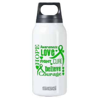 Spinal Cord Injury Hope Words Collage Insulated Water Bottle
