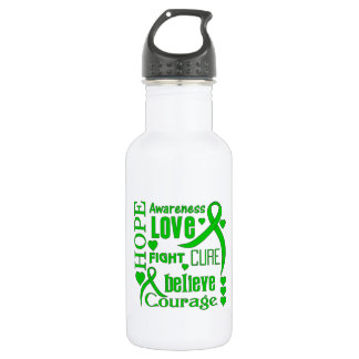 Spinal Cord Injury Hope Words Collage Stainless Steel Water Bottle