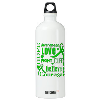Spinal Cord Injury Hope Words Collage Water Bottle