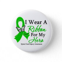 Spinal Cord Injury I Wear a Ribbon For My Hero Pinback Button