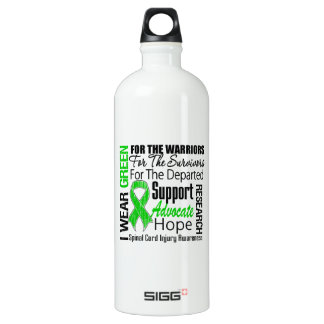 Spinal Cord Injury I Wear Green Ribbon Tribute SIGG Traveler 1.0L Water Bottle