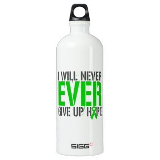 Spinal Cord Injury I Will Never Ever Give Up Hope Water Bottle