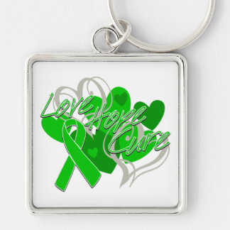 Spinal Cord Injury Love Hope Cure Keychain