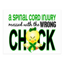 Spinal Cord Injury Messed With Wrong Chick Postcard