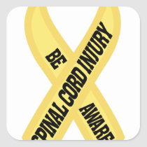 Spinal Cord Injury Square Sticker