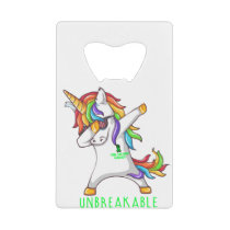 SPINAL CORD INJURY Warrior Unbreakable Credit Card Bottle Opener