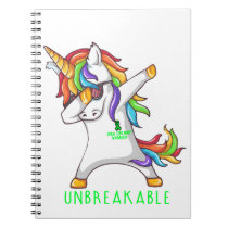 SPINAL CORD INJURY Warrior Unbreakable Notebook