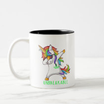 SPINAL CORD INJURY Warrior Unbreakable Two-Tone Coffee Mug