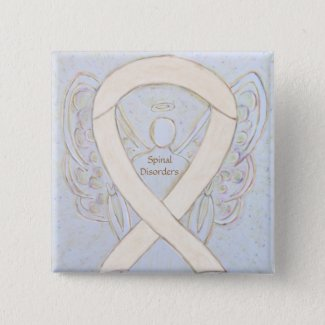 Spinal Disorders Awareness Ribbon Angel Pins
