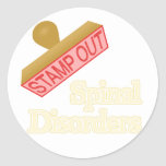 Spinal Disorders Round Sticker