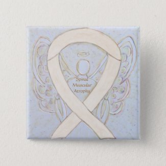 Spinal Muscular Atrophy Awareness Ribbon Angel Pin