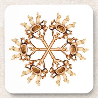 Spinal Snowflake Coasters