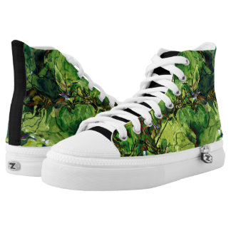 Spinardie Green Abstract Sneackers Printed Shoes