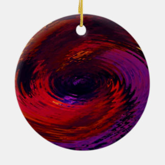 Spinart! Eddy in Color Ceramic Ornament