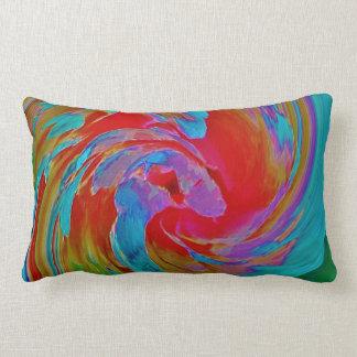 Spinart! Fluorescing Floral Throw Pillows