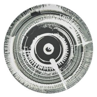 Spinart! Super Nova Black Dinner Plate