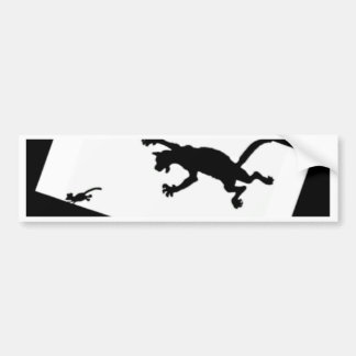 Spinderok - Cat Chasing Mouse Bumper Sticker
