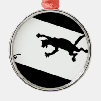 Spinderok - Cat Chasing Mouse Metal Ornament