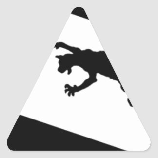 Spinderok - Cat Chasing Mouse Triangle Sticker