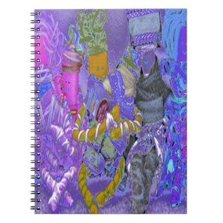 spinderok -  multicultural dolls spiral note books