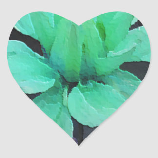 spinderok - pale green dahlia heart stickers