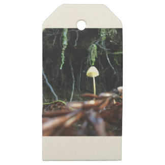 Spindly Mushroom Wooden Gift Tags