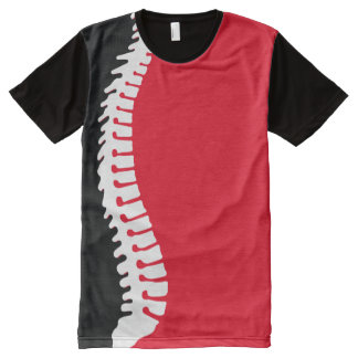 Spine Color Block All Over Print T-Shirt