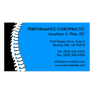 Spine Cutout Chiropractic Appointment Cards Business Card
