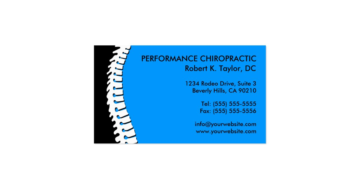 Spine cutout chiropractic business cards zazzle for Cutout business cards