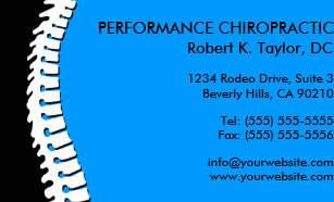 Chiropractic business cards templates zazzle spine cutout chiropractic business cards colourmoves
