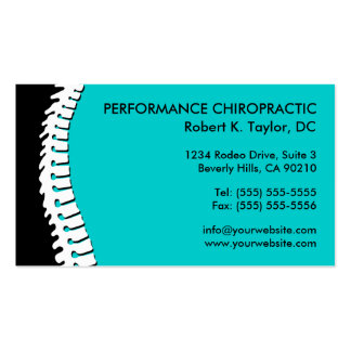 Spine Cutout Chiropractic Business Cards