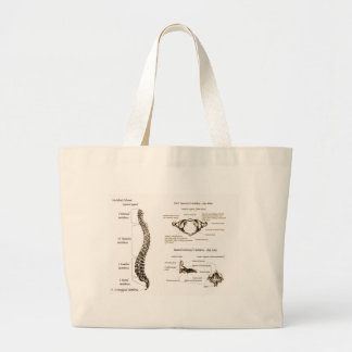 Spine Details Sepia Canvas Bags